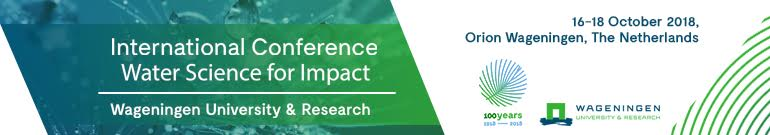 IWC - International conference Water Science for Impact 16-18 October 2018